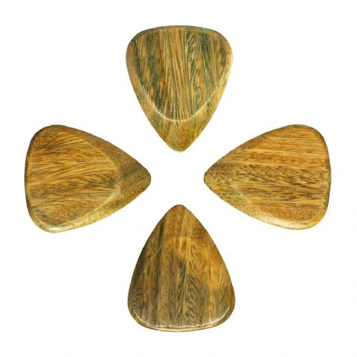 Timber Tones Fat Lignum Vitae Pack of 4 Guitar Picks